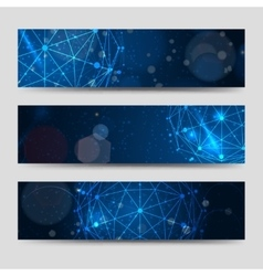 Horizontal banners template with abstract sphere vector image vector image