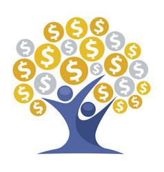 Icon for money tree vector