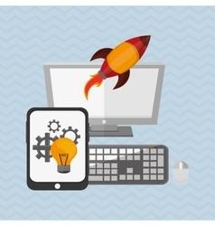Idea design business concept Colorful vector image