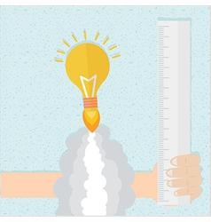 Idea rocket boot up vector image