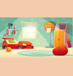 interior of children bedroom with window vector image