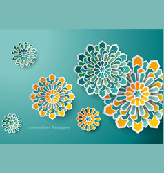 Islamic design geometric art background vector