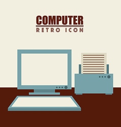 Isolated retro icon vector