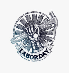 Labor day logo vector