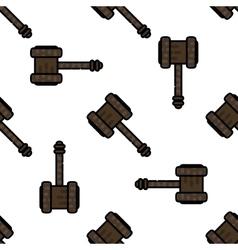 Law flat pattern vector