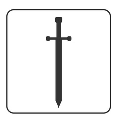 Medieval sword sign isolated vector