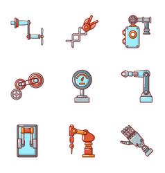 Mitt icons set cartoon style vector