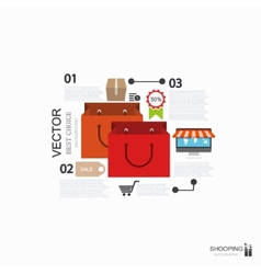 Modern shooping infographic background vector