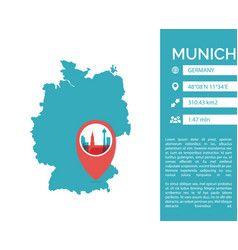 munich map infographic vector image