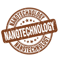 Nanotechnology brown grunge stamp vector