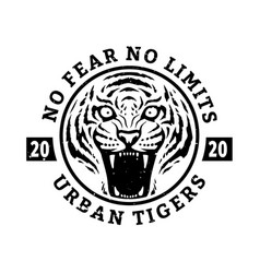 no fears limits tiger t-shirt design vector image