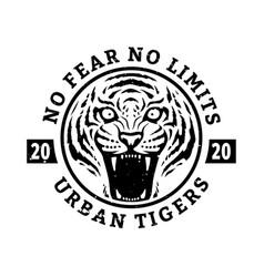 no fears no limits tiger t-shirt design vector image