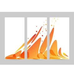 Orange abstract overflow set vector