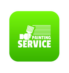Painting service icon green vector