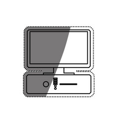 pc computer technology vector image vector image