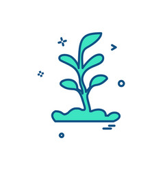 plant icon design vector image