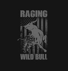 Raging bull america background vector
