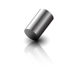 realistic 3d metal cylinder vector image