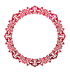 red celtic frame vector image vector image