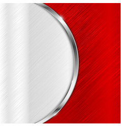 Red metal brushed texture with stainless steel vector