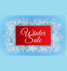 red winter sale concept background realistic vector image