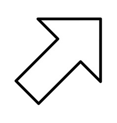 Right up arrow basic element icon vector