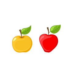 ripe apple and slice of vitamin fruit icon vector image