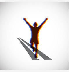 running marathon logo vector image