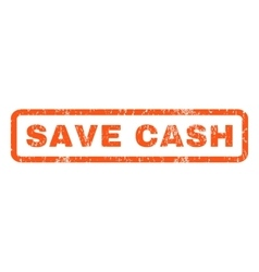 Save Cash Rubber Stamp vector image