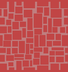 Seamless background with red uneven rectangle vector