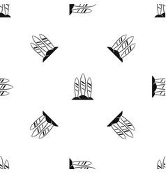 Serfing board pattern seamless black vector