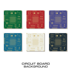 set of circuit board design vector image vector image