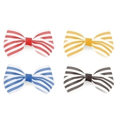 Set of Striped bows vector image