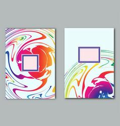 Set template sample poster design flyer business vector