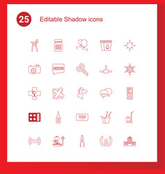 Shadow icons vector
