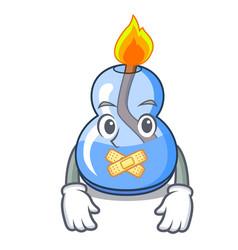 Silent alcohol burner mascot cartoon vector