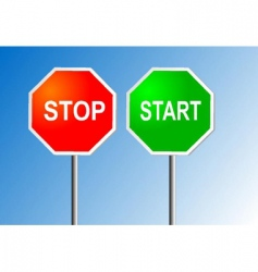 stop and start vector image