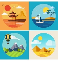 Summer Vacation Landscape Set vector image