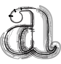 Technical typography Letter a vector image