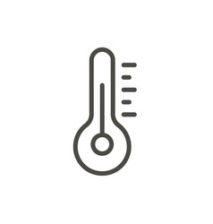 temperature icon line thermometer symbol vector image