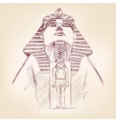 Tutankhamun egyptian pharaoh vector