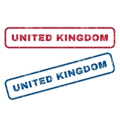 United Kingdom Rubber Stamps vector image