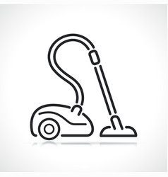 Vacuum cleaner thin line icon vector