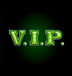 Vip letter diamond vector