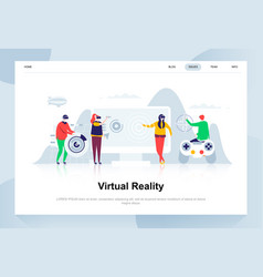 virtual reality glasses modern flat design concept vector image