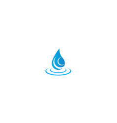 Water pure mineral droplet logo vector
