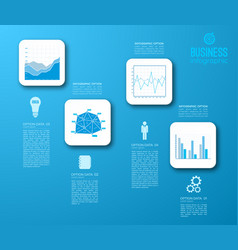 web step infographic design concept vector image