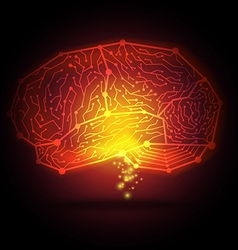 abstract hi tech digital brain vector image