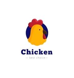 bright chicken head logo vector image