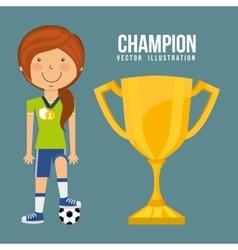 celebrate champion vector image vector image